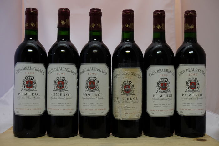 1990 Clos Beauregard, Pomerol, France - 6 bottles