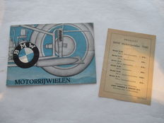 BMW - Originele oude folder BMW motoren - 1939 - 1940