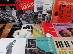 Lot of fifteen great old jazz records.