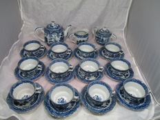 European service with chinoiserie decoration - 27 pieces