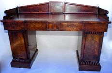 Antique 18th century library pedestal sideboard
