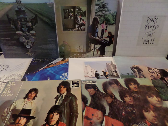 Lot of eight great albums of Pink Floyd and related.