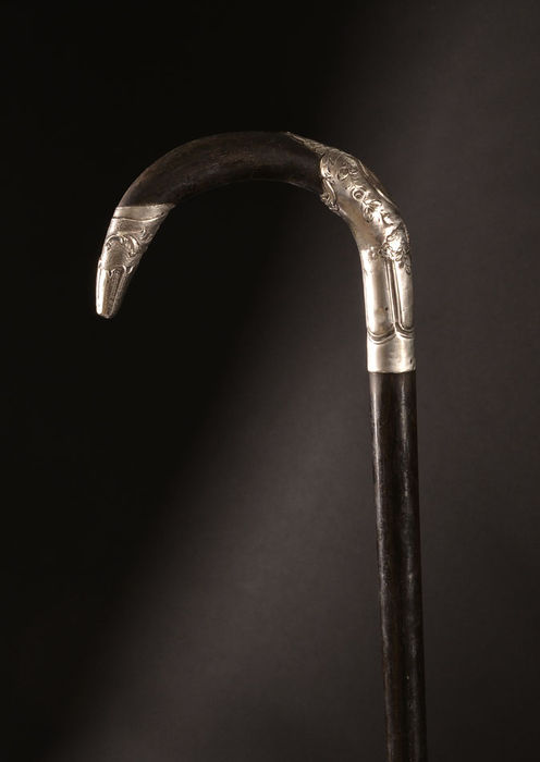 Cane with silver head, around 1900