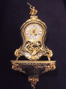 Boulle clock on console from the Napoleon III period in Louis XV-style - 1870 period