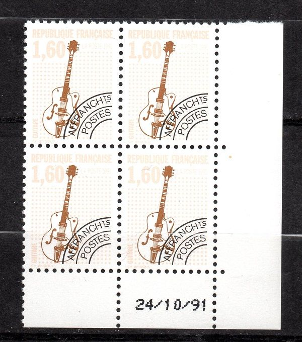 France 1964/1993 - Selection of pre-cancelled stamps including No. 213 and service stamps - Yvert between No. 123 and 231