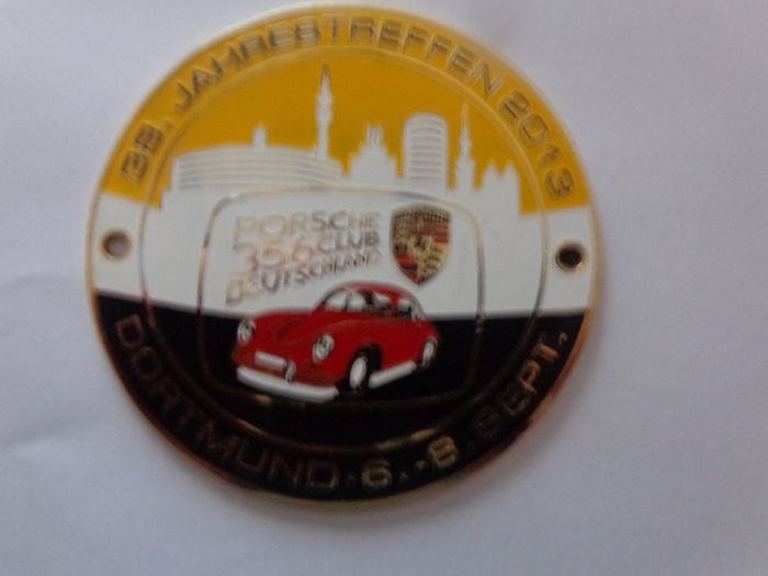 Porsche 356 Dortmund 6-8 Sept. 2013 Club Germany 38 Years / Car Emblem