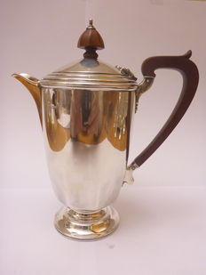 Silver tea pot, Birmingham, Adie Brothers LTD 1955