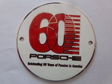 Porsche 60 Years of Celebration in Amerika  / Vintage Auto Embleem