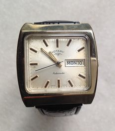 ROTARY men's wristwatch - largely shaped - mid-70s