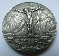 Weimar Republic - Silver Medal 1930 by Karl Goetz commemorating to the Passionsspiele in Oberammergau