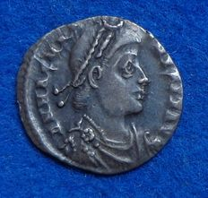 Roman Empire – silver siliqua of emperor Magnus Maximus (383-388 A.D.), minted in Rome
