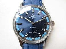 Velona, Swiss - Ref. 13084/1 - dial in two shades of blue - men's wristwatch - 70s