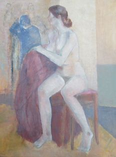 Unknown artist  (signed H. Smit)- Nude