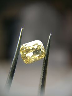 1,01 ct Kussen geslepen diamant, Fancy Dark Yellowish Brown, SI1