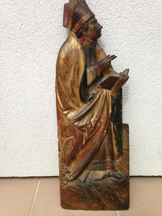 Polychrome figure of a bishop - Germany/Austria - 16th century