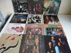 Fabulous lot with 12 top Country Rock / Classic Rock albums : the Allman Brothers at Filmore East(2lp)  , the Gregg Allman Band, the Eagles, Poco(4x), the Doobie Brothers( 3x ), Matthews Southern Comfort, the Bellamy Brothers