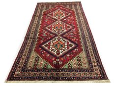 Amazing Oriental carpet: Antique Gashqaï  320 x 170 cm circa 1950 !!
