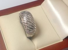 White gold 18 kt women's ring with brilliant cut diamonds 0.62 ct. W/SI