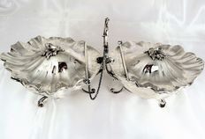 Sterling Silver Table Centrepiece, Art Deco style, Italy, 1935-1944