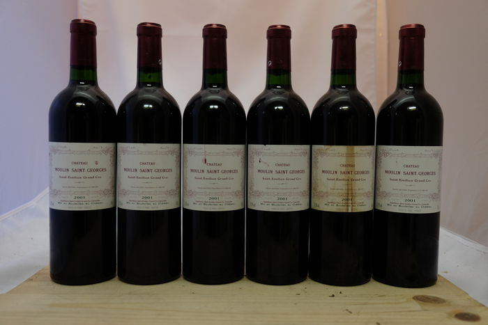 2001 Chateau Moulin Saint- Georges, Saint-Emilion Grand Cru, France, 6 flessen.