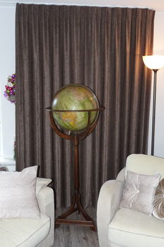 Impressive and rare antique floor globe by Ernst Schotte, Germany