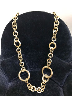Pomellato – 18 kt yellow gold fancy-link necklace