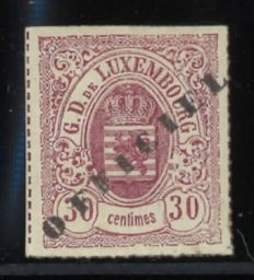 Luxembourg 1875 - official stamp 30 centimes - Michel 7ll
