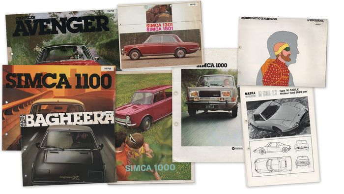 Chrysler, Simca, Dodge etc - 80 items of documentation and brochures - (1965 -2004) - Simca, Dodge, Matra, Voyager, Neon