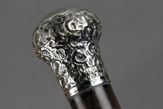 Walking stick cane with silver mount - England - circa 1900