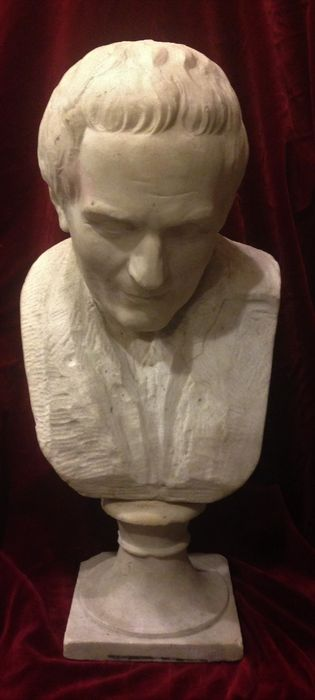 Bust of Marco Tulio Cicerón - France - late 19th century