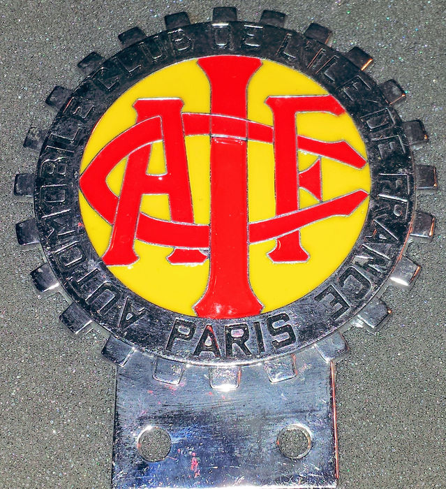 Automobile Club De L'ile De France Paris - Member Car grill badge - A.C.I.F.