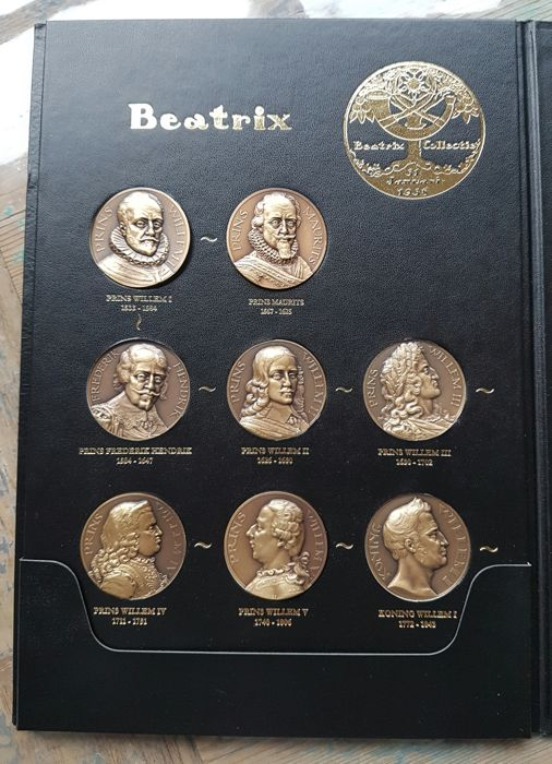 The Netherlands - Various medals from the Beatrix Collection (16 pieces) in album - Bronze