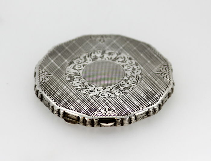 Norwegian Silver Vanity Case, Made in 1920