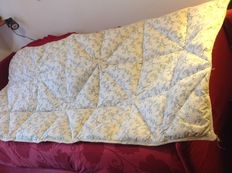 Country bed quilt in chintz and real goose down - 1980 ca - Italy