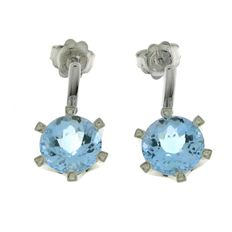 Chimento – white gold dangle earrings with topaz and diamond