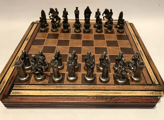Historical chess set inspired by the Middle Ages