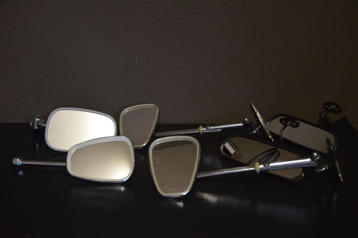 Lot of 7 vintage mirrors - for classic cars from 1960s-180s