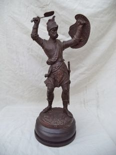 Metal figurine of a knight, 20th century