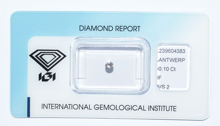 Diamante a taglio brillante da 0,10 ct F VS2