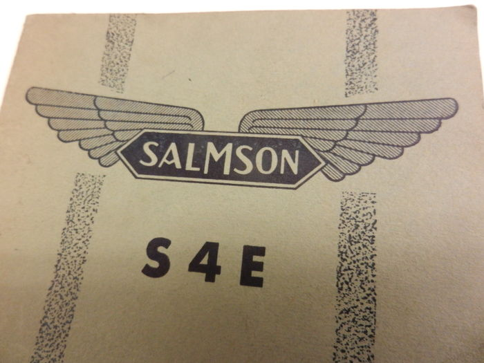 SALMSON S 4 E Instruction booklet. 1937-1951. Very Rare