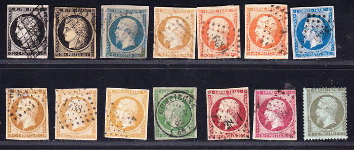 France 1849/1870 – Napoleon III French Empire – Between Yvert n° 3, 15, 13a, 12, 16, 14b, 17a, 17b et 19