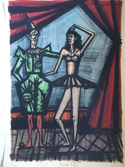 Bernard Buffet - Two Circus Performers