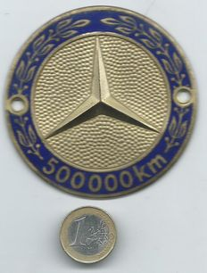 Mercedes 500.000 Kilometres Plaque ( Badge ) Rare Collector's item from the 1950s