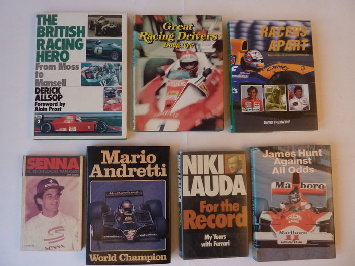 7 Books about Formula 1 Drivers - 1977/1991.