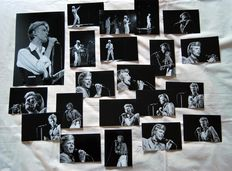 David Bowie, lot of 21 photographs, live 1974 - 1983
