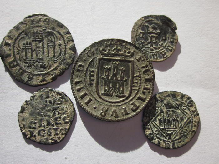 Spanish Empire - Fabulous lot of Spanish coins 5 reigns in Spanish history