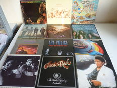 Grand  lot with 12 Classic Rock albums with  multipie styles : Stephen Stills, the Doors(2x) , Michael Jackson,  E.L.O., Deep Purple(2x), the Police, Jackson Browne,Genesis,Classic rock LSO,  John C. Mellenkamp