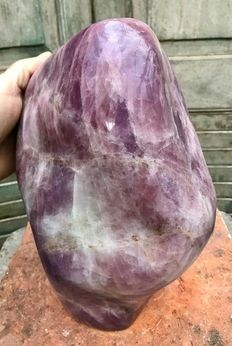 Huge piece of polished deep-pink Rose Quartz - 28 x 21 x 17 cm - 15.71 kg