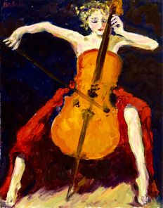Anke Brokstra (1940-) - Celliste
