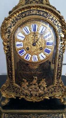 French Boulle clock on base – second half of the 19th century
